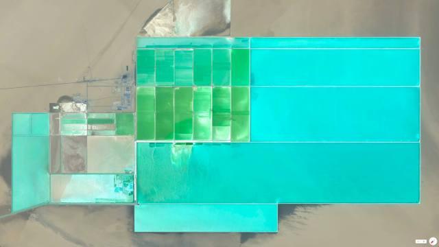 Lop Nur Potash Solar Ponds - Taklimakan Desert, China