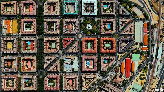 Puente de Vallecas apartment buildings - Madrid, Spain